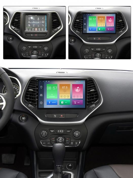 Navigatie Jeep Grand Cherokee 2014-2018, NAVI-IT, 10.25 Inch, 4GB RAM 64GB ROM, IPS, DSP, RDS, 4G, Android 10 , WiFi, Bluetooth, Magazin Play, Camera Marsarier [3]