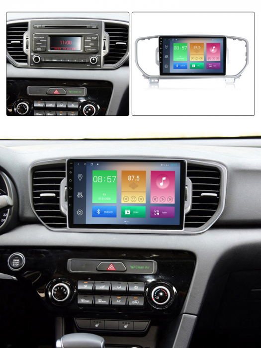 Navigatie Kia Sportage 2016-2018, NAVI-IT, 9 Inch, 2GB RAM 32GB ROM, Android 9.1, WiFi, Bluetooth, Magazin Play, Camera Marsarier [3]