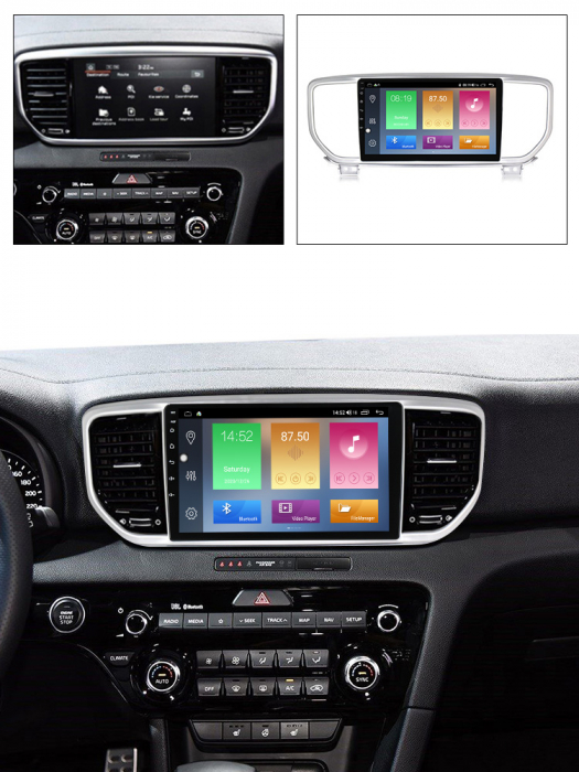 Navigatie Kia Sportage 2018-2019, NAVI-IT, 9 Inch, 4GB RAM 64GB ROM, IPS, DSP, RDS, 4G, Android 10 , WiFi, Bluetooth, Magazin Play, Camera Marsarier [4]