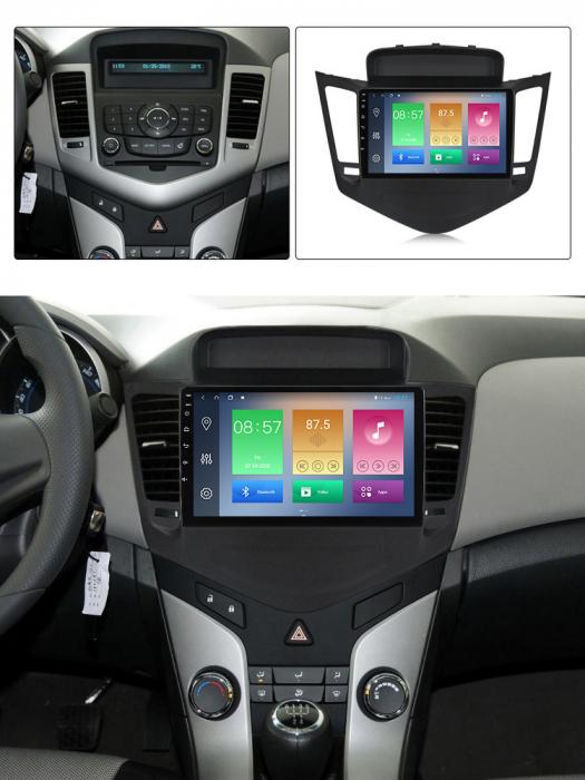 Navigatie Chevrolet Cruze 2009-2014, NAVI-IT, 9 Inch, 4GB RAM 64GB ROM, IPS, DSP, RDS, 4G, Android 10 , WiFi, Bluetooth, Magazin Play, Camera Marsarier [3]