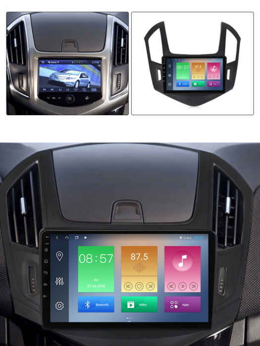Navigatie Chevrolet Cruze 2012-2015, NAVI-IT, 9 Inch, 4GB RAM 64GB ROM, IPS, DSP, RDS, 4G, Android 10 , WiFi, Bluetooth, Magazin Play, Camera Marsarier [3]