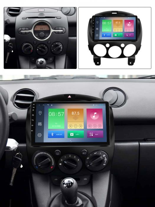 Navigatie Mazda 2 2007-2014, NAVI-IT, 9 Inch, 4GB RAM 64GB ROM, IPS, DSP, RDS, 4G, Android 10 , WiFi, Bluetooth, Magazin Play, Camera Marsarier [3]