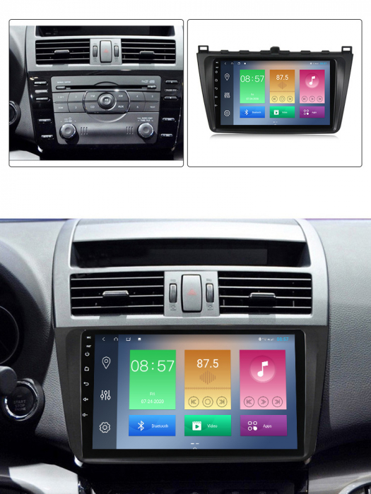 Navigatie Mazda 6 2008-2013 , NAVI-IT, 9 Inch, 2GB RAM 32GB ROM, Android 9.1, WiFi, Bluetooth, Magazin Play, Camera Marsarier [4]