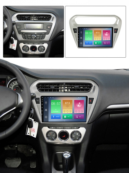 Navigatie Peugeot 301, Elysee 2013-2016, NAVI-IT, 9 Inch, 2GB RAM 32GB ROM, Android 9.1, WiFi, Bluetooth, Magazin Play, Camera Marsarier [4]