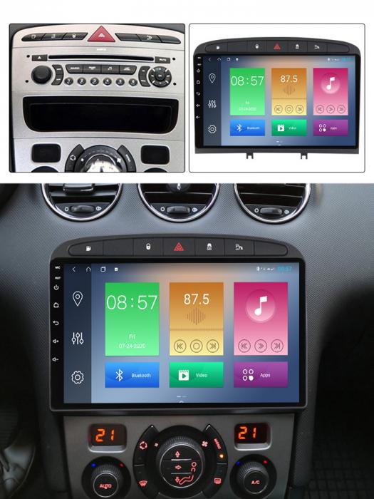Navigatie Peugeot 408, NAVI-IT, 9 Inch, 4GB RAM 64GB ROM, IPS, DSP, RDS, 4G, Android 10 , WiFi, Bluetooth, Magazin Play, Camera Marsarier [5]