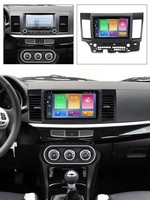 Navigatie Mitsubishi Lancer 2007-2012 , NAVI-IT, 10.1 Inch, 2GB RAM 32GB ROM, Android 9.1, WiFi, Bluetooth, Magazin Play, Camera Marsarier [4]