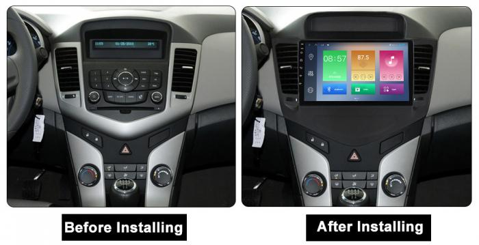 Navigatie Chevrolet Cruze 2009-2014, NAVI-IT, 9 Inch, 4GB RAM 64GB ROM, IPS, DSP, RDS, 4G, Android 10 , WiFi, Bluetooth, Magazin Play, Camera Marsarier [1]