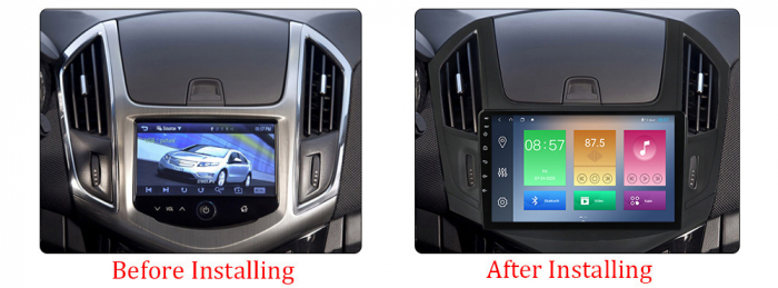 Navigatie Chevrolet Cruze 2012-2015, NAVI-IT, 9 Inch, 2GB RAM 32GB ROM, Android 9.1, WiFi, Bluetooth, Magazin Play, Camera Marsarier [1]