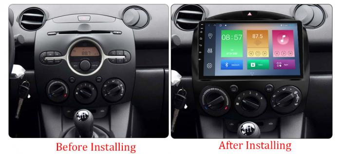 Navigatie Mazda 2 2007-2014, NAVI-IT, 9 Inch, 4GB RAM 64GB ROM, IPS, DSP, RDS, 4G, Android 10 , WiFi, Bluetooth, Magazin Play, Camera Marsarier [1]