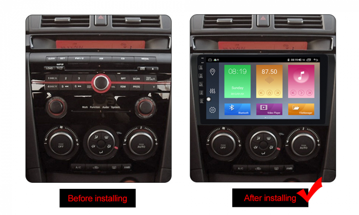 Navigatie Mazda 3 2004-2009, NAVI-IT, 9 Inch, 2GB RAM 32GB ROM, Android 9.1, WiFi, Bluetooth, Magazin Play, Camera Marsarier [1]