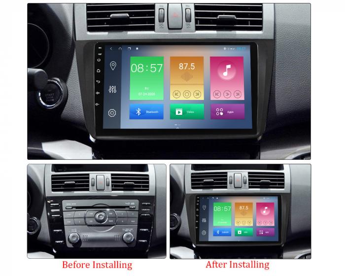Navigatie Mazda 6 2008-2013, NAVI-IT, 9 Inch, 4GB RAM 64GB ROM, IPS, DSP, RDS, 4G, Android 10 , WiFi, Bluetooth, Magazin Play, Camera Marsarie [1]