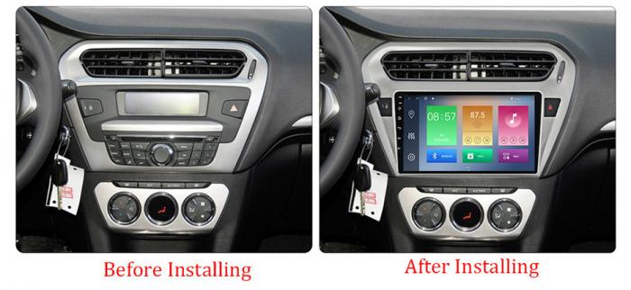 Navigatie Peugeot 301, Elysee 2013-2016, NAVI-IT, 9 Inch, 4GB RAM 64GB ROM, IPS, DSP, RDS, 4G, Android 10 , WiFi, Bluetooth, Magazin Play, Camera Marsarie [1]