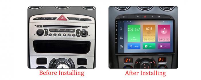 Navigatie Peugeot 408, NAVI-IT, 9 Inch, 1GB RAM 16GB ROM, Android 9.1, WiFi, Bluetooth, Magazin Play, Camera Marsarier [1]