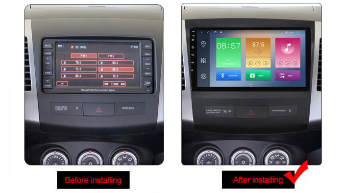 Navigatie Mitsubishi Outlander 2006-2012. NAVI-IT, 9 Inch, 4GB RAM 64GB ROM, IPS, DSP, RDS, 4G, Android 10 , WiFi, Bluetooth, Magazin Play, Camera Marsarier [1]