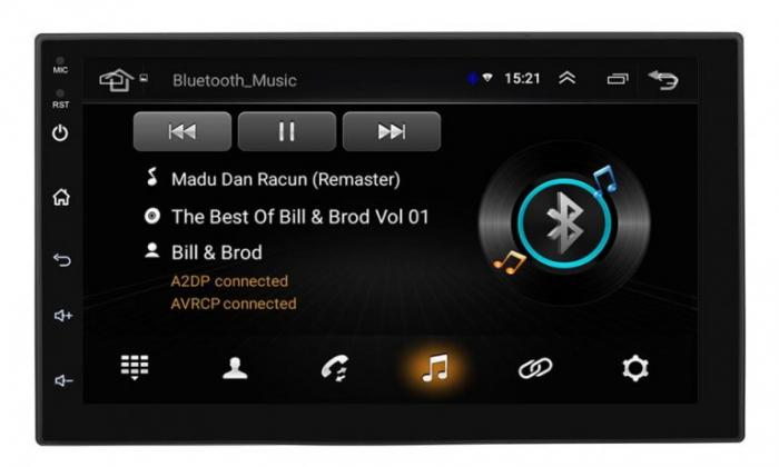 Navigatie auto universala MP5 Player, 2DIN, Android 9, 7 inch, Quad Core, 1/16GB, FM, BT, Wifi, Harti GPS, Mirror-link 2