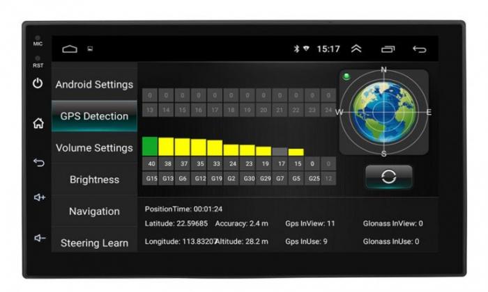 Navigatie auto universala MP5 Player, 2DIN, Android 9, 7 inch, Quad Core, 1/16GB, FM, BT, Wifi, Harti GPS, Mirror-link 3