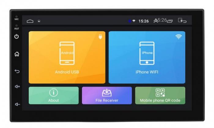 Navigatie 7 inch cu Android 9, 2 Gb RAM ,Vw, Ford , Nissan, Dacia, mufare Iso,suporti de prindere si microfon Extern [2]