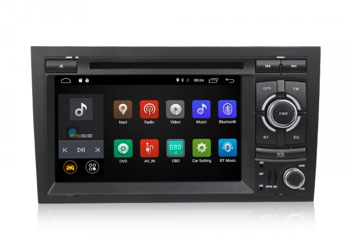 Navigatie auto dedicata Audi A4 (B6, B7) 2002-2008, Android 9 cu DVD + Cadou Card GPS 8Gb 1