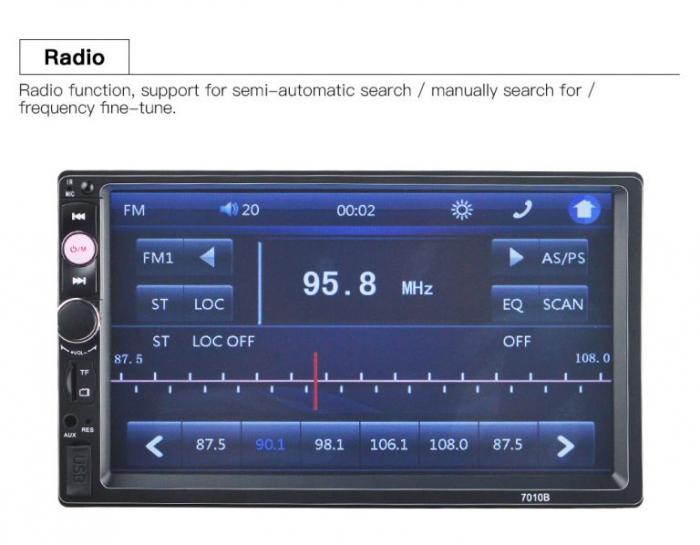 Navigatie auto universala MP5 Player 2DIN, Windows, 7 inch, FM, BT, Mirror-link,rama adaptoare 1