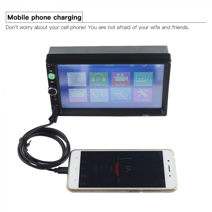 Navigatie auto universala MP5 Player 2DIN, Windows, 7 inch, FM, BT, Mirror-link,rama adaptoare 2