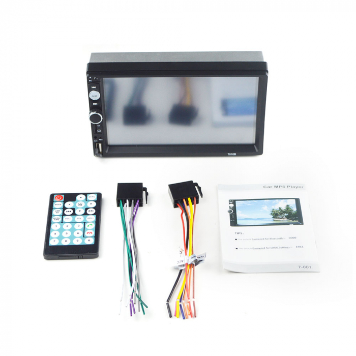 Navigatie auto universala MP5 Player 2DIN, Windows, 7 inch, FM, BT, Mirror-link,rama adaptoare 3