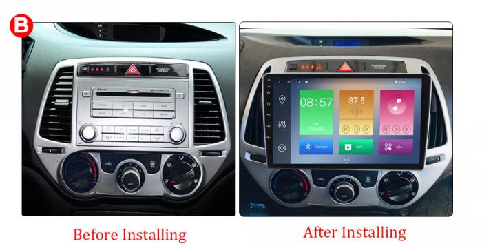 Navigatie Hyundai I20 2012-2014, NAVI-IT, 10 Inch, 1GB RAM 16GB ROM, Android 9.1, WiFi, Bluetooth, Magazin Play, Camera Marsarier [2]