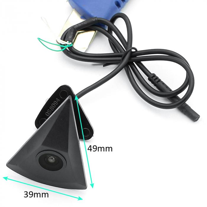 Camera vizualizare fata in Emblema Vw, tip triunghi, 12 V, rezistenta la apa, night vision [1]