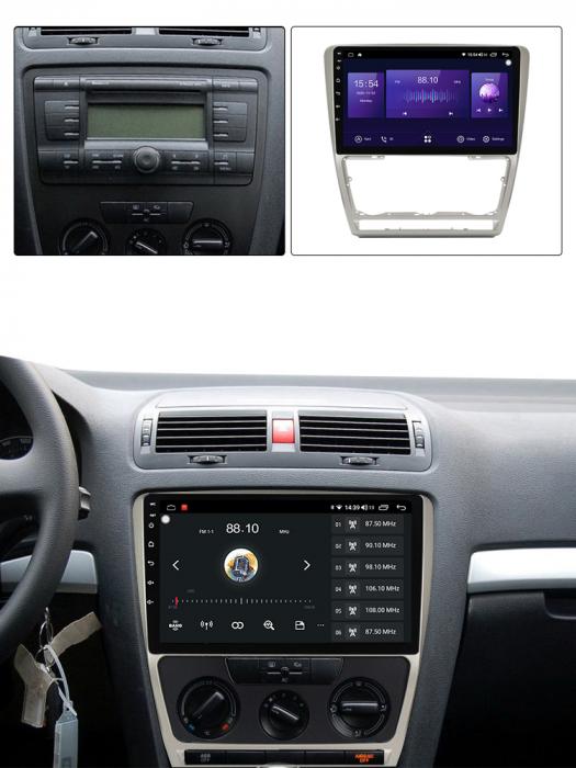 Navigatie NAVI-IT, 1GB RAM 16GB ROM, Skoda Octavia 2 FACELIFT ( 2009-2013 ), WiFi, Bluetooth, Android 9.1, Magazin Play 1