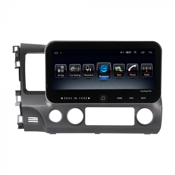 Navigatie Honda Civic 2006-2011, NAVI-IT, 10.2Inch, 4GB RAM 64GB ROM, IPS, DSP, RDS, 4G, Android 10 , WiFi, Bluetooth, Magazin Play, Camera Marsarier [0]