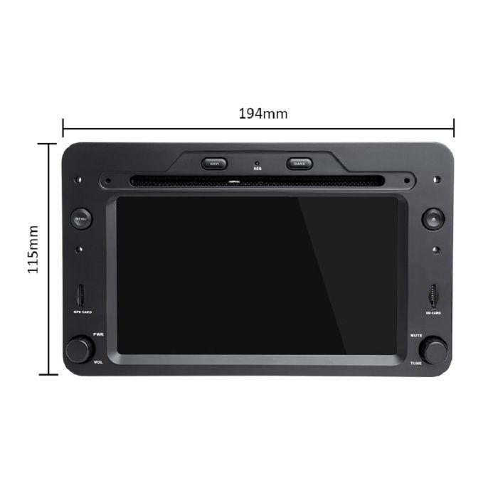 Navigatie NAVI-IT 4GB RAM 64GB ROM dedicata cu Android 9.1, Alfa Romeo 159, Brera, Spider 2