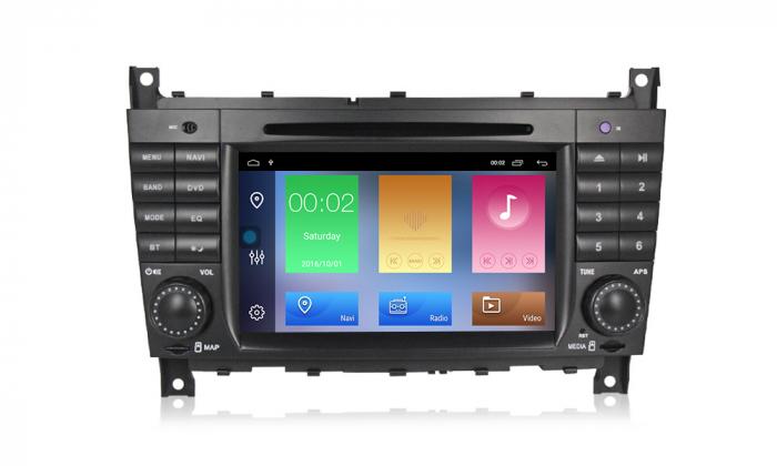 Navigatie NAVI-IT 1 GB RAM + 16 GB ROM Mercedes C Class W203 , CLK W209 , Android 9.1 , Internet, Aplicatii , Waze , Wi Fi , Usb , Bluetooth , Mirrorlink [0]