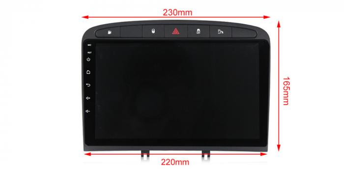 Navigatie Peugeot 408, NAVI-IT, 9 Inch, 2GB RAM 32GB ROM, Android 9.1, WiFi, Bluetooth, Magazin Play, Camera Marsarier [2]
