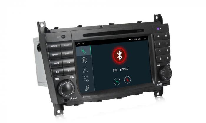 Navigatie NAVI-IT 1 GB RAM + 16 GB ROM Mercedes C Class W203 , CLK W209 , Android 9.1 , Internet, Aplicatii , Waze , Wi Fi , Usb , Bluetooth , Mirrorlink [4]