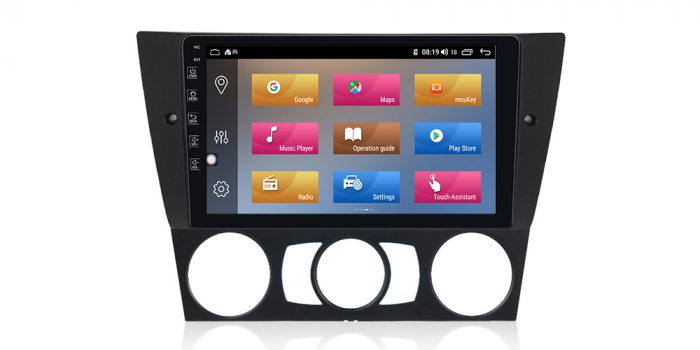 Navigatie NAVI-IT 1GB RAM + 16GB ROM Gps Android BMW Seria 3 E90 E91 (2005 - 2012), Internet , Aplicatii, Waze , Wi Fi , Usb , Bluetooth , Mirrorlink 1