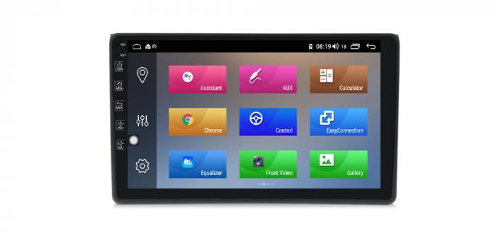 Navigatie NAVI-IT 1GB RAM + 16GB ROM Android Audi A4 B6 B7 , SEAT EXEO ( 2001 - 2008 ) , Display 9 inch , Internet ,Aplicatii , Waze , Wi Fi , Usb , Bluetooth , Mirrorlink [2]