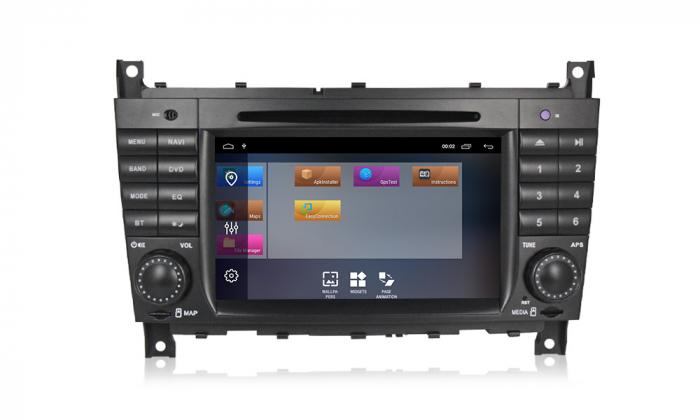 Navigatie NAVI-IT 2 GB RAM + 16 GB ROM Mercedes C Class W203 , CLK W209 , Android 10, Internet, Aplicatii , Waze , Wi Fi , Usb , Bluetooth , Mirrorlink - Copie 3