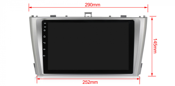 Navigatie Toyota Avensis 2011-2015, NAVI-IT, 9 Inch, 4GB RAM 64GB ROM, IPS, DSP, RDS, 4G, Android 10 , WiFi, Bluetooth, Magazin Play, Camera Marsarier [2]