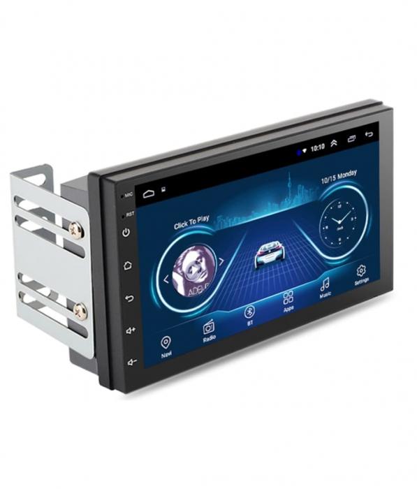 Navigatie auto universala MP5 Player, 2DIN, Android 9, 7 inch, Quad Core, 1/16GB, FM, BT, Wifi, Harti GPS, Mirror-link 0