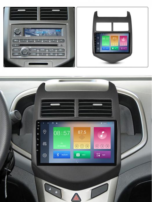 Navigatie Chevrolet Aveo 2010-2015, NAVI-IT, 9 Inch, 4GB RAM 64GB ROM, IPS, DSP, RDS, 4G, Android 10 , WiFi, Bluetooth, Magazin Play, Camera Marsarier [4]