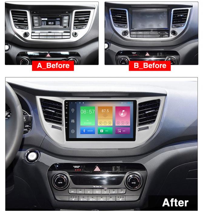 Navigatie Hyundai Tucson, IX35 2014-2018 , NAVI-IT, 9 Inch, 2GB RAM 32GB ROM, Android 9.1, WiFi, Bluetooth, Magazin Play, Camera Marsarier [1]