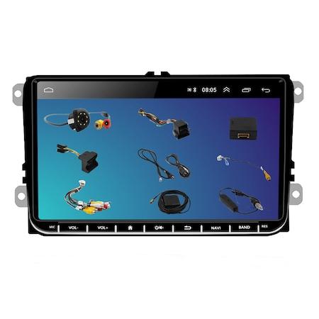 Navigatie NAVI-IT 1GB RAM 16 GB ROM, Ecran 9 inch 2.5D, 1280X720, IPS, Sistem de operare Android 9,Procesor T3, VW Passat CC,B7,B6,Golf 5 6,Touran,Skoda, Seat, camera marsarier Night-Vision 8 leduri, 0