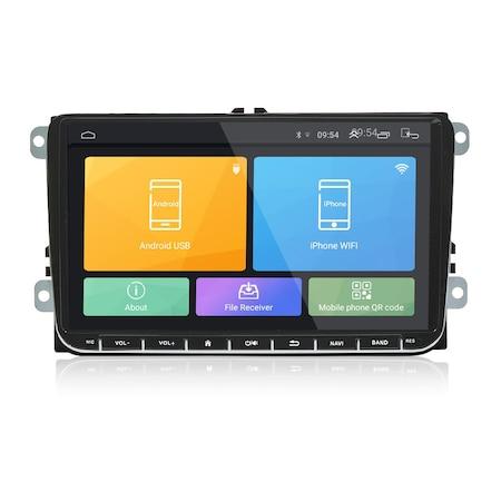 Navigatie NAVI-IT 1GB RAM 16 GB ROM, Ecran 9 inch 2.5D, 1280X720, IPS, Sistem de operare Android 9,Procesor T3, VW Passat CC,B7,B6,Golf 5 6,Touran,Skoda, Seat, camera marsarier Night-Vision 8 leduri, 4