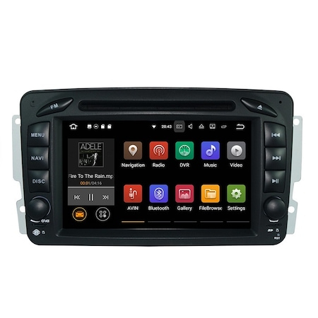 Navigatie NAVI-IT 1GB RAM + 16GB ROM , Gps Mercedes C Class W203 Vaneo Vito Viano , Android 9.1 , Internet ,Aplicatii , Waze , Wi Fi , Usb , Bluetooth , Mirrorlink [2]