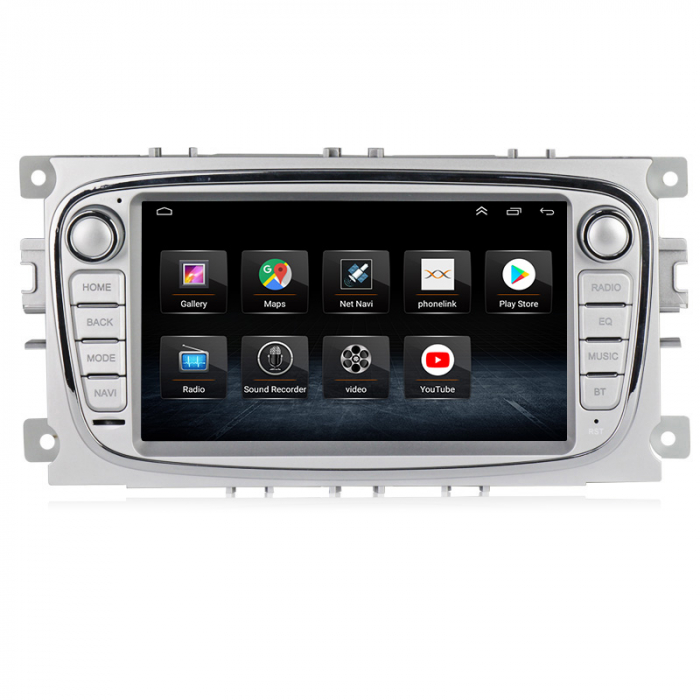 Navigatie NAVI-IT 2GB RAM + 32 GB ROM Gps Android Ford Mondeo Focus S Max Transit Tourneo, Interne ,Aplicatii , Waze , Wi Fi , Usb , Bluetooth , Mirrorlink 1