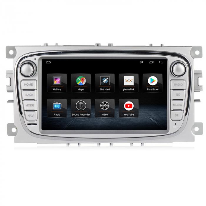 Navigatie NAVI-IT 4 GB RAM + 64 GB ROM Gps Android Ford Mondeo Focus S Max Transit Tourneo, Interne ,Aplicatii , Waze , Wi Fi , Usb , Bluetooth , Mirrorlink 1