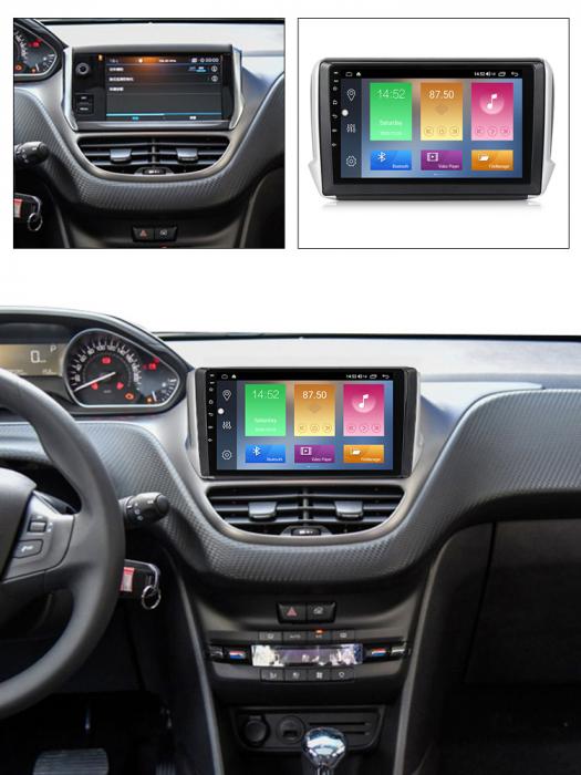 Navigatie Peugeot 208, NAVI-IT, 10.1 Inch, 1GB RAM 16GB ROM, Android 9.1, WiFi, Bluetooth, Magazin Play, Camera Marsarier [6]