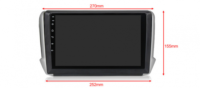 Navigatie Peugeot 208, NAVI-IT, 10.1 Inch, 1GB RAM 16GB ROM, Android 9.1, WiFi, Bluetooth, Magazin Play, Camera Marsarier [1]