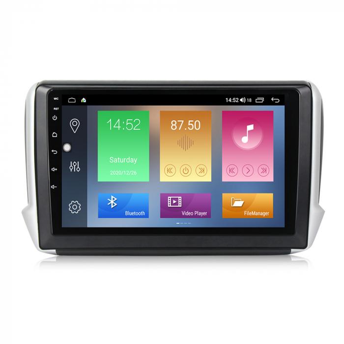 Navigatie Peugeot 208, NAVI-IT, 10.1 Inch, 1GB RAM 16GB ROM, Android 9.1, WiFi, Bluetooth, Magazin Play, Camera Marsarier [0]