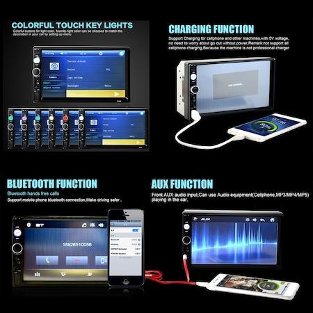 Navigatie MirrorLink mp5 player auto 7010B, Rama,Suporti prindere, Bluetooth, Divix , AVI , USB , SD Card , AUX 1