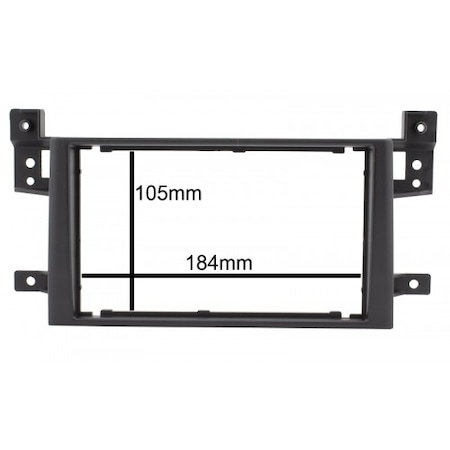 Rama adaptoare NAVI-IT, Suzuki Grand Vitara,negru, 2 DIN + suporti metalici 1